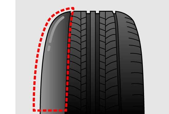 タイヤの片側だけ早く摩耗する